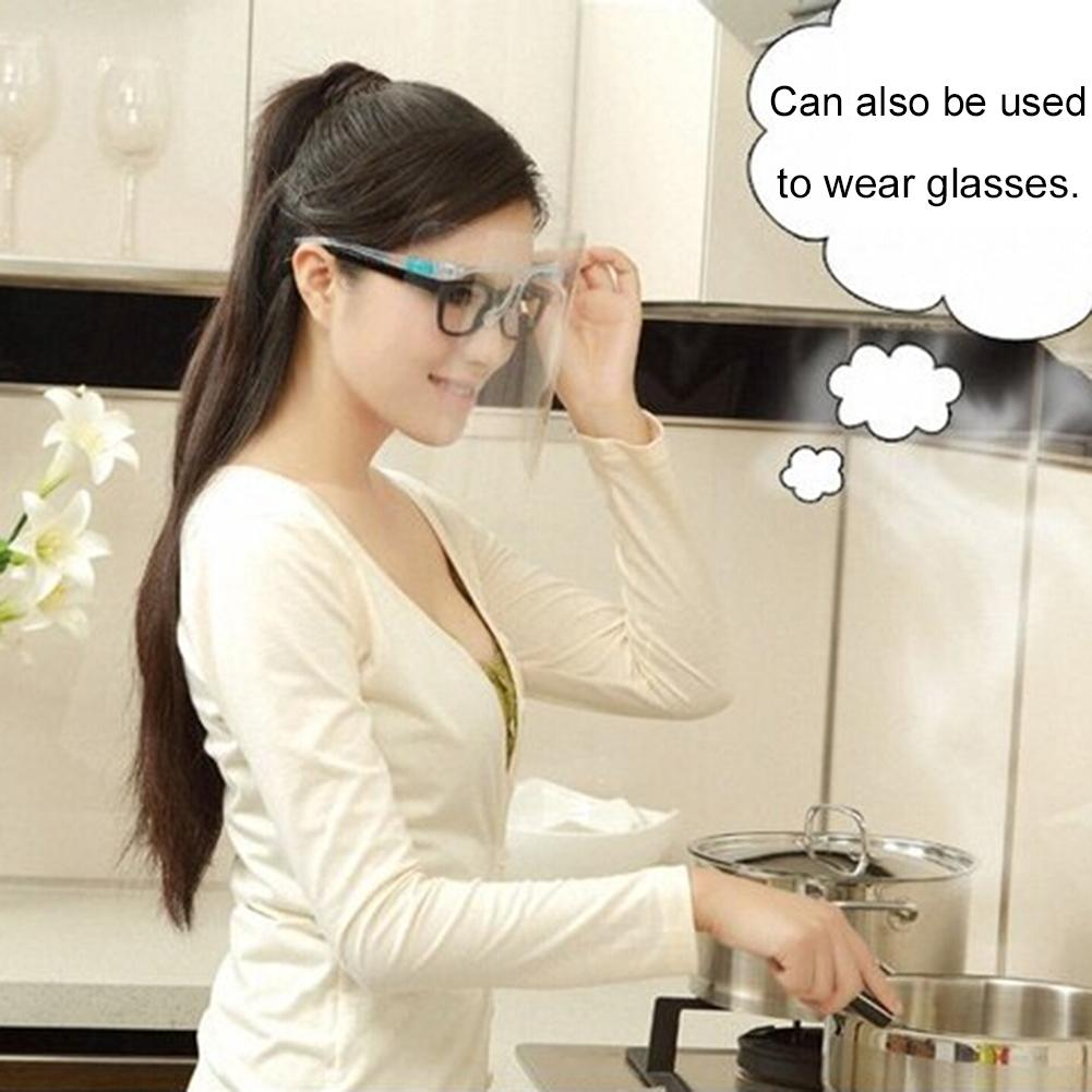Kitchen Cooking Anti-Oil Splash Face Cover Mask Safety Worldwide Face Protector Shield Plastic Anti-smoke Screen
