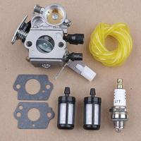 Carburetor Spark Plug Fuel Filter Line Kit For Stihl MS171 MS181 MS201 MS211 Zama C1Q S269 Chainsaws Replace 1139 120 061
