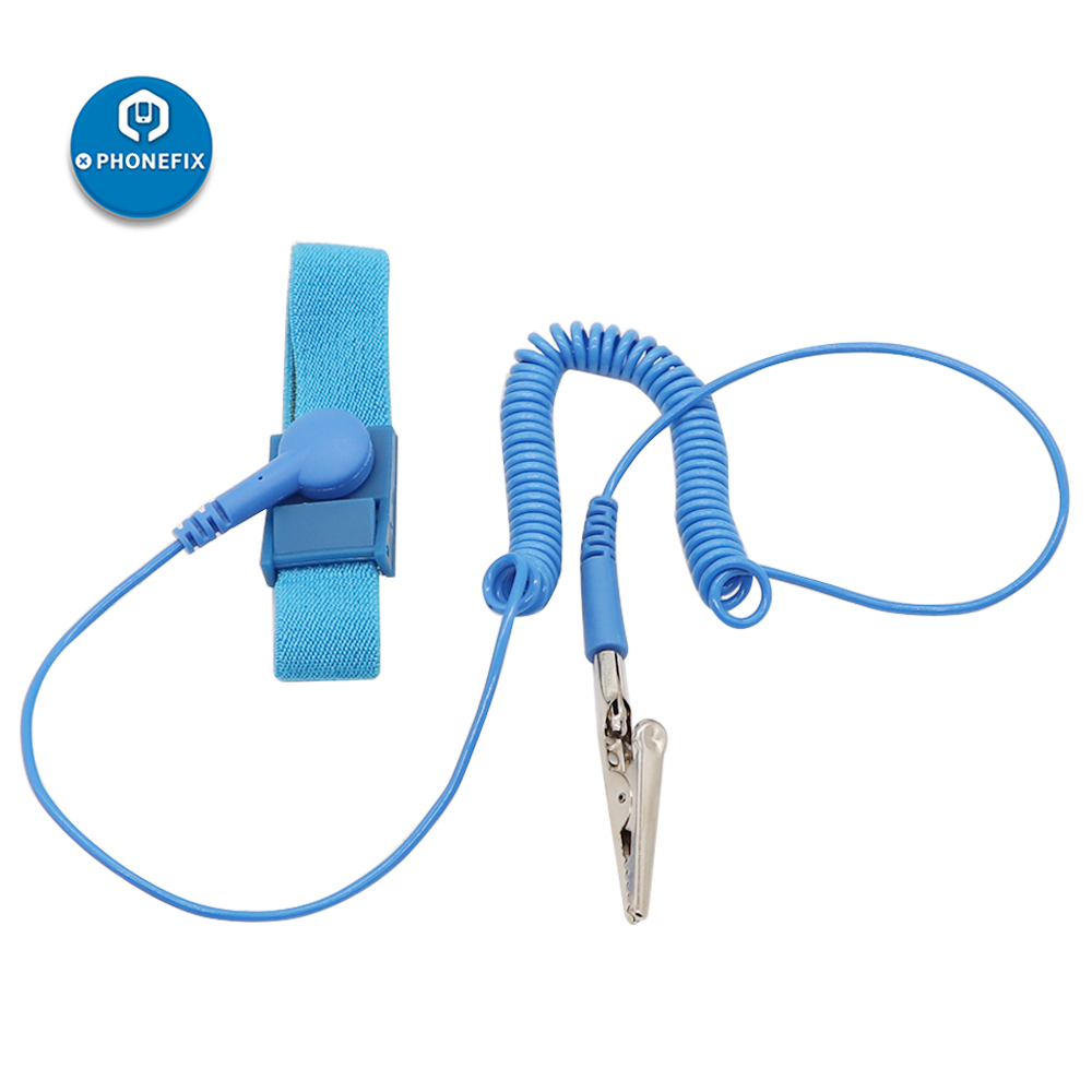 Cordless Wireless Clip Anti Static ESD Wristband Wrist Strap Discharge Cables For Protecting Sensitive Electronic Components