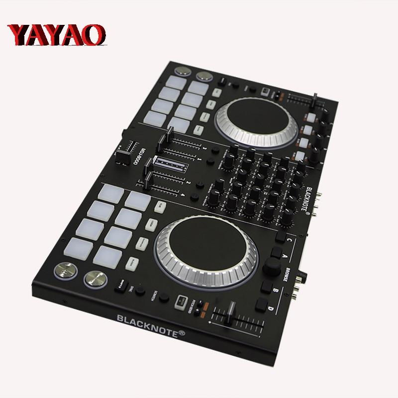コントローラプレイヤーにディスクオーディオミキシングコンソールサウンドミキサーメサデ mezclas dj dmx ステージライト