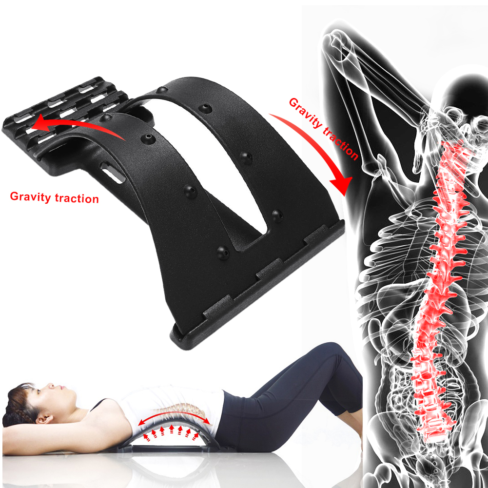 1pc Back Stretch Equipment Massager Magic Stretcher Fitness Lumbar Support Relaxation Spine Pain Relief Corrector Health