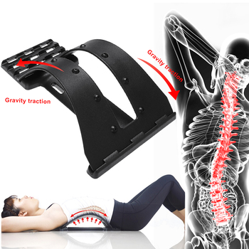 1pc Back Stretch Equipment Massager Magic Stretcher Fitness Lumbar Support Relaxation Spine Pain Relief Corrector