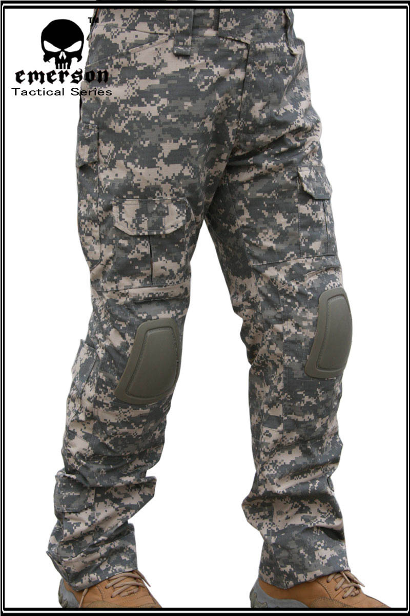 Guangzhou Wolf Slave Outdoor-Combat Pants Second Generation Genuine Product ACU Camouflage Pants Men Genuine Product Tactical Pa