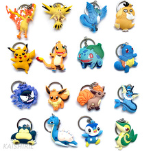 Anime Pokemon Men Women Keychain Car Ring Action font b Toy b font Figures Key Chain