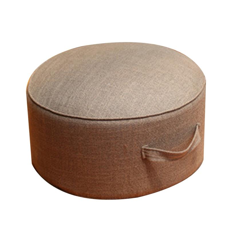 Дизайн, круглая высокопрочная губчатая подушка для сиденья, Подушка Татами, медитация, Йога, круглый коврик, подушки для стула - Цвет: Khaki
