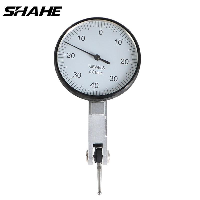 Indicador de Teste de Discagem de Alavanca de Precisão Indicador de Discagem Ferramentas de Medição de Teste Shahe Alta Qualidade 0-0.8mm 0.01mm