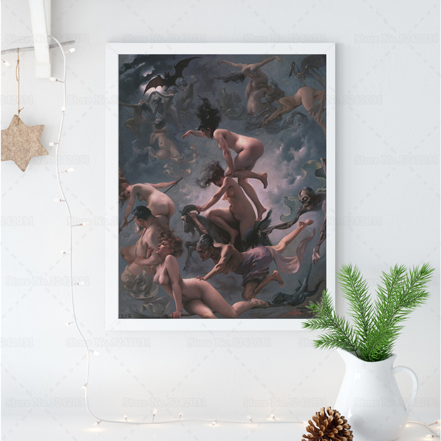 Witches on the Sabbath by Luis Ricardo Falero Printed on Canvas 1