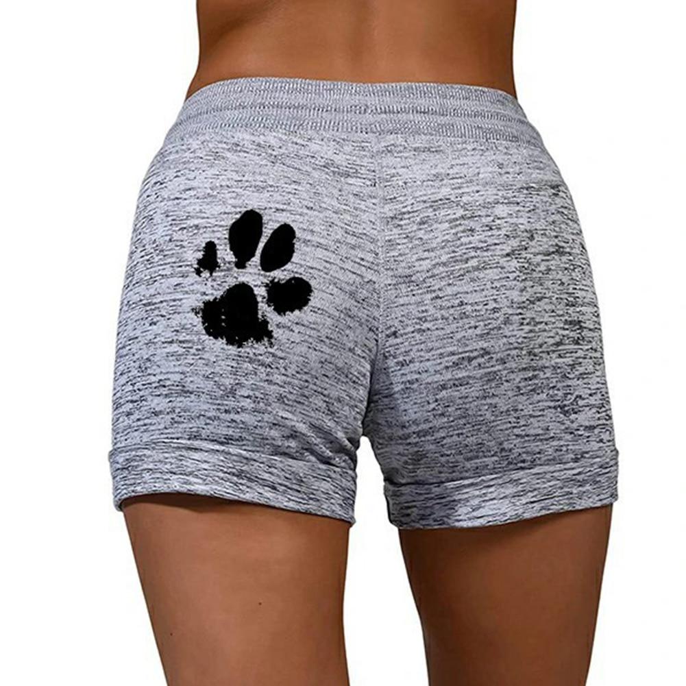Woman shorts Women High Waist Cats Claw Print  6