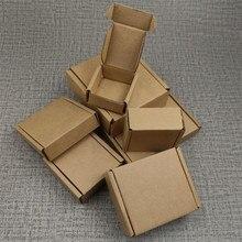 5pcs 10 Sizes Kraft Paper Corrugated Shipping Box Small Carton Packaging Mailer Box For Mini item Jewelry Packing Storage Box