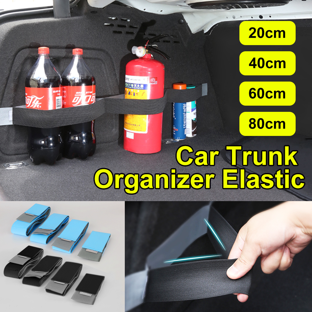 Practical Car Trunk Fixed Storage Stowing Tidying Sticky Tape Belt Supplies Trunk Organizer Auto Interior Accessories Blue Black
