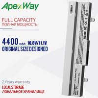 Apexway Laptop Battery White 4400mAh For Asus Eee PC AL31-1005 AL32-1005 ML32-1005 PL32-1005 1005 1001P 1001HA 1101HA