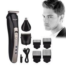 Электрический триммер для волос в носу 3 в 1, Беспроводная Машинка для стрижки волос, триммер для бороды, бритва, бритва, перезаряжаемая через USB машинка для стрижки волос 40Триммеры для волос    АлиЭкспресс