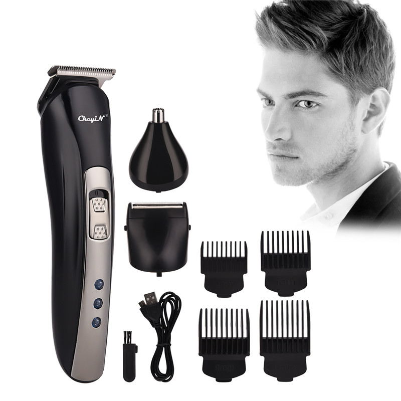 3 In 1 Electric Nose Hair Trimmer Cordless Hair Clipper Beard Trimmer Shaver Razor USB Rechargeable Haircut Cutting Machine 45