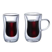 1 Pcs Innovative Double Wall Insulated Glass Cup Heat-resistant For Tea Coffee Latte Espresso Iced Dishwasher Mugs
