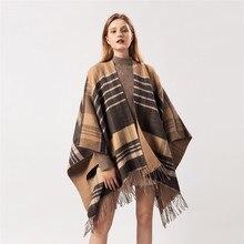 SANMAIHUA women fashion cashmere ponchos winter warm shawls and wraps hijab stole pashmina long female Echarpe