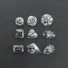 Grown Pear-Shape Moissanite-Lab Diamond Stones Loose VVS Grey Cut GRA Small-Size 5--7mm