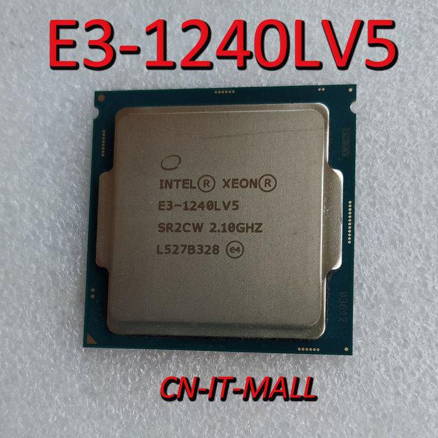 Intel Xeon E3 1240LV5 CPU, 2,1 GHz, 8MB de caché, 4 núcleos, 8 hilos, procesador LGA1151