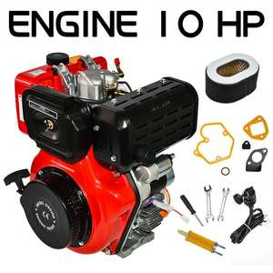 411cc 10HP Diesel Engine 4 Stroke Single Cylinder 72.2mm Shaft Length US EU Stock