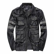 Мужские короткие кожаные куртки с отложным воротником, высокое качество, ПУ кожа, красивые мотоциклетные кожаные куртки с несколькими карманами, черные