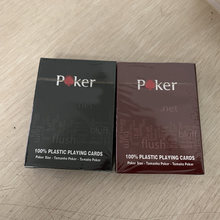 Vermelho/preto opção texas holdem poker cartões impermeável e maçante polonês poker