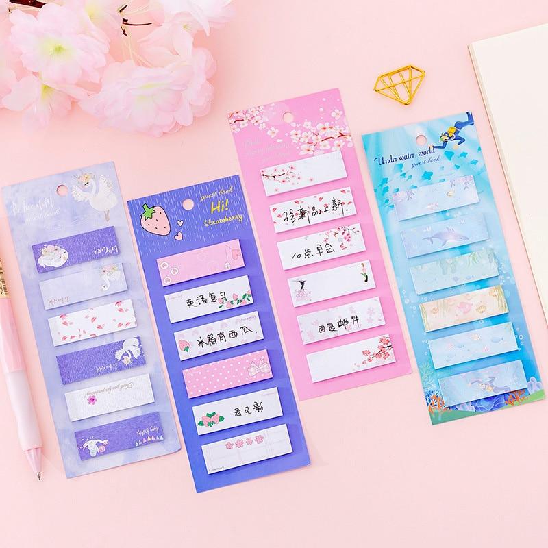 Unicorn Sticky Notes Memo Stationary Pad 50 notes Decorative stickers