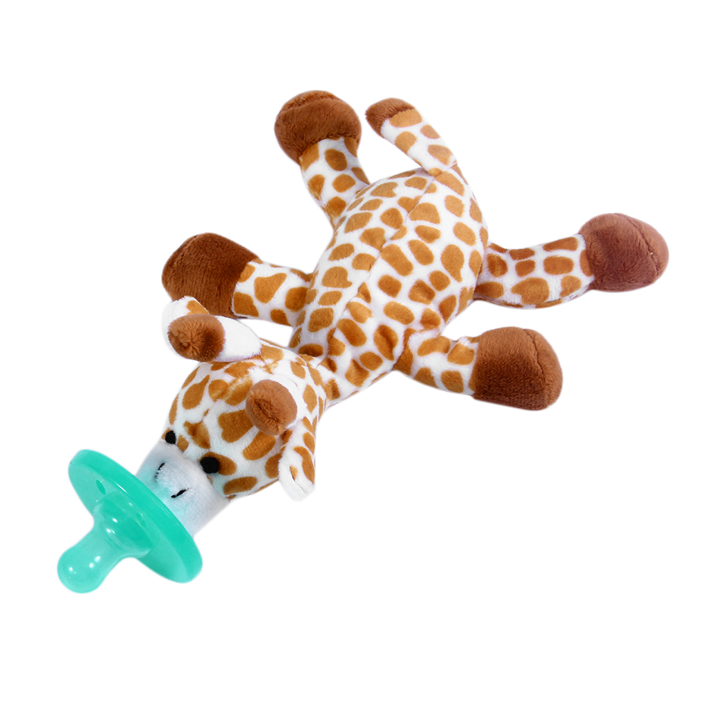 Cute Funny Newborn Baby Food-grade Silicone Cartoon Animal Pacifier With Soft Plush Toy BPA Free Dummy Nipple Teat Soother-2