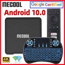 Mecool KM1 Deluxe ATV Google certyfikowany Android 10 TV, pudełko Amlogic S905X3 Androidtv Prime wideo 4K podwójny zestaw Wifi Top Box 2G 16G