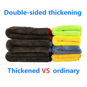Image 5 - Car Cleaning Towel 1200GSM Car Detailing 40*40cm 60*90cm Microfiber Drying Towels Auto Polishing Tool Car Wash Cloth Accessories