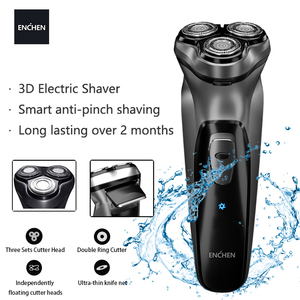 Enchen Electric face Shaver BlackStone 3D Electric Machine Razor Beard Washable USB Type-C Rechargeable for Men gifts