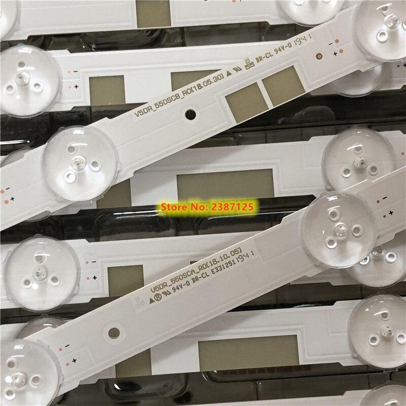 18PCS tira retroiluminação LED para Sam sung