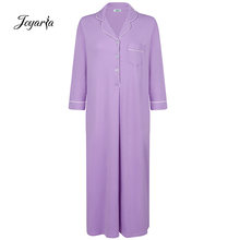 Joyaria женское длинное платье для сна 100% хлопок Премиум ночная