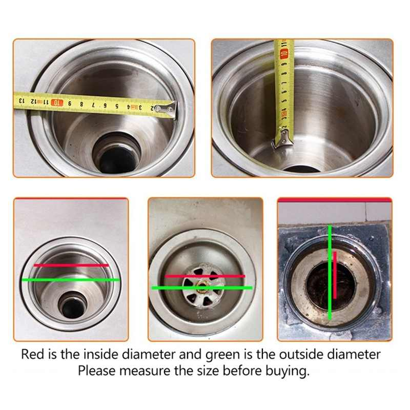 NIEUWE rvs badkamer wastafel haarfilter aanrecht afvoerputje anti-blocking woonaccessoires tool wc levert
