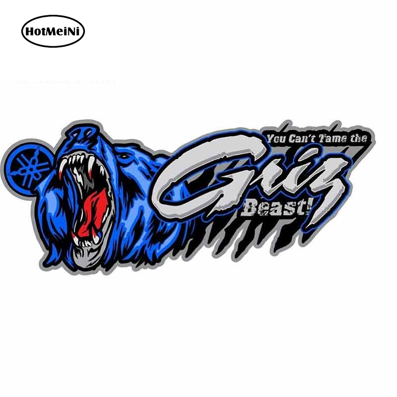 HotMeiNi 13cm X 5.4cm Auto Car Stickers And Decals For Yamaha Grizzly Graphics RV VAN ATV Vinyl Car Wrap Waterproof Decor