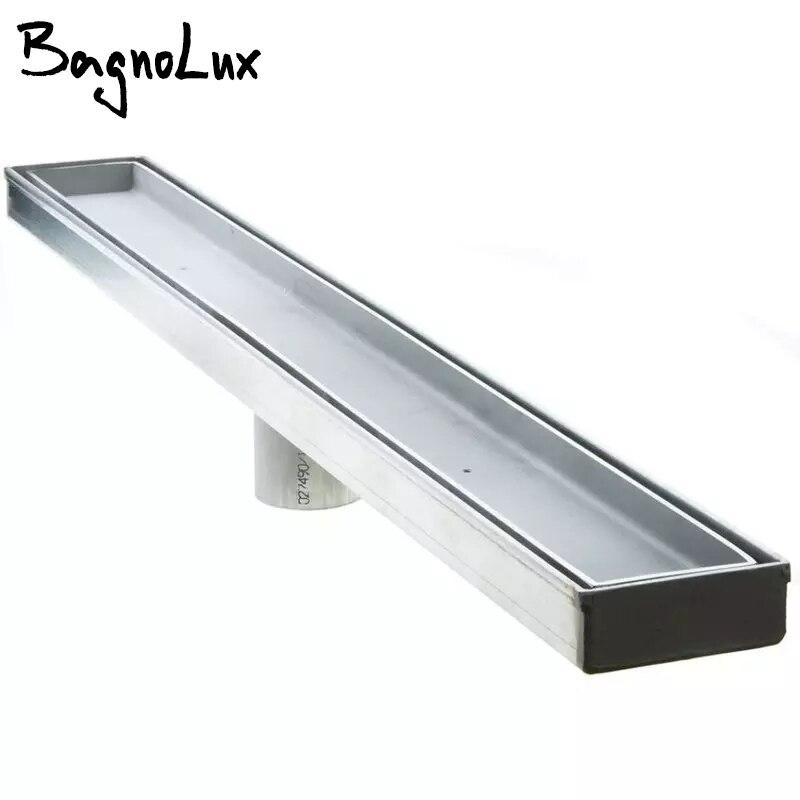 Bagnolux Super Heavy-duty Hardware Tile Insert 304# Stainless Steel Linear Shower Bathroom Grate Floor Drain Centre Outlet Waste