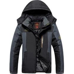North Winter Jacket Men Large Size 9XL Men's Outdoor Sport Fishing Suit Windproof Face Plus Velvet Thickening Climbing Parka