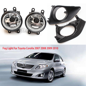 цена на MZORANGE Front Bumper Fog Light For Toyota Corolla 2007 2008 2009 2010 Right/Left Grille Cover Bezel Grille Cover Switch H11