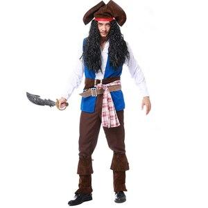 Ла CISNE форма Для Мужчин's пирата из мультфильма «Капитан Америка»; Костюм Джека Хеллоуин костюм Для Мужчин's игровая одежда