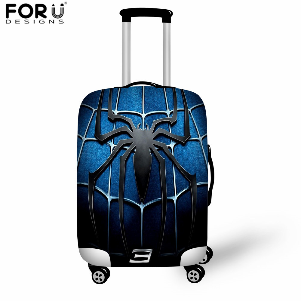 FORUDESIGNS Super Spiderman Pattern Elastic Luggage Protective Cover Suitcase Dust Cover 18-32inch Trunk Case Travel Accessories