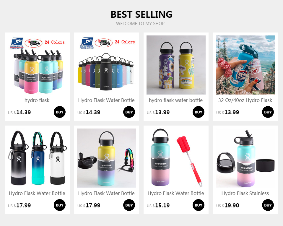 H132082e6448a4d88b0a4c1c7ef77b7d8z hydro flask 18oz/32oz/40oz Tumbler Flask Vacuum Insulated Flask Stainless Steel Water Bottle Wide Mouth Outdoors Sports Bottle