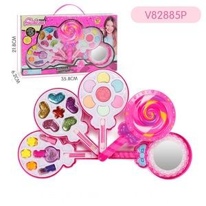 Image 5 - Çocuklar makyaj oyuncak seti oyna Pretend prenses pembe makyaj güzellik güvenlik toksik olmayan seti oyuncaklar kızlar soyunma kozmetik kız hediyeler