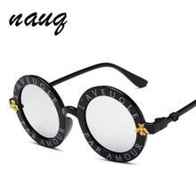 Новые модные круглые металлические солнцезащитные очки в стиле