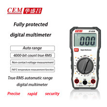 Cem DT-923B / DT-928 multímetro de corrente e tensão rms verdadeiro inteligente anti-queima backlight display digital faixa manual