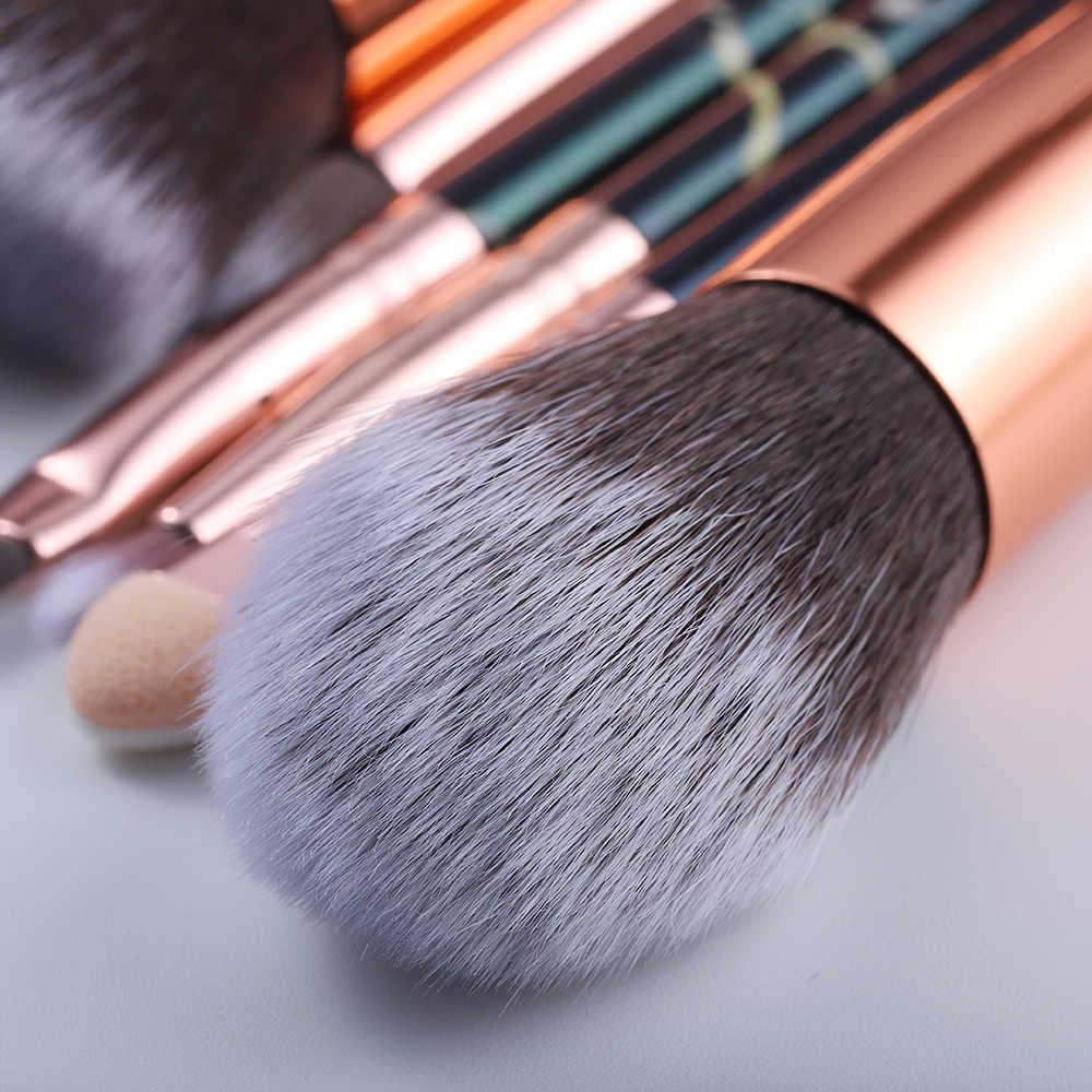 FLD5/15Pcs איפור מברשות סט כלי קוסמטי אבקת צלליות קרן סומק מיזוג יופי איפור מברשת Maquiagem