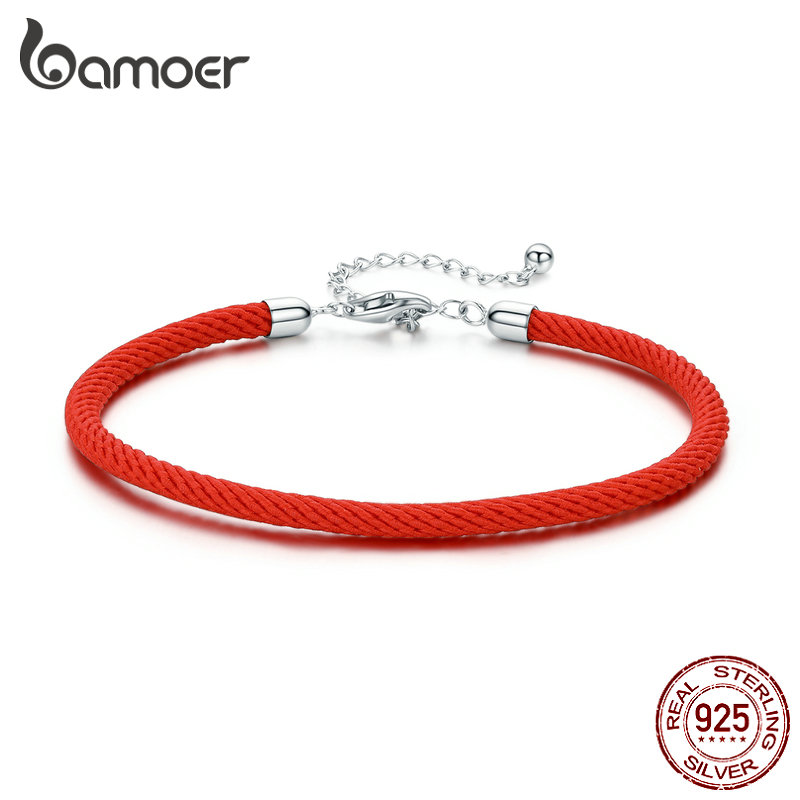 bamoer 925 Sterling Silver Charm Bracelet for Women Original European Female Adjustable 16cm to 21cm Girl Birthday Gifts SCB166(China)