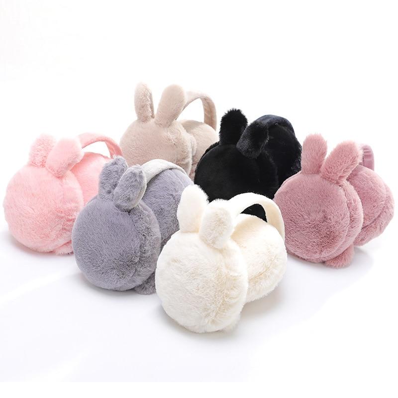 New Cute Winter Warm Earmuff For Girls And Boys Plush Warm Rabbit Earcap Children Lovely Winter Earmuffs Ear Cover Earwarmers
