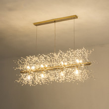 Modern minimalist dandelion crystal chandelier Nordic spherical bedroom creative led personality lighting(China)