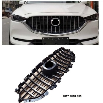 HIGH QUALITY FRONT RACING GRILLE MESH RUNNING BOARD MASK COVER GRILLS FIT FOR MAZDA CX-5 CX5 2017-18 EXTERIOR ACCESSORIES GRILL image