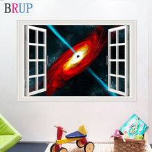 10 Style Black Hole 3D Wall Stikers Creative Universe Science Art Home Decor for Kids Room Planets Black Hole Wall Decals