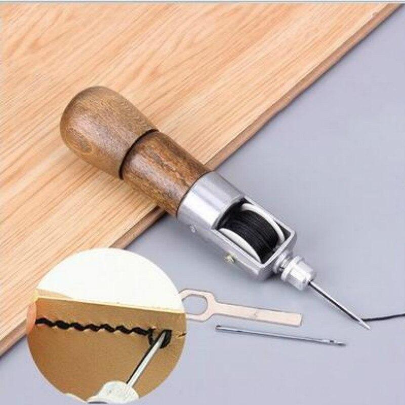 Ремесло край ремень со строчкой полосы обувница сделай-сам нитки для шитья кожи инструмент кожа ручная швейная машина для кожи восковых нит...