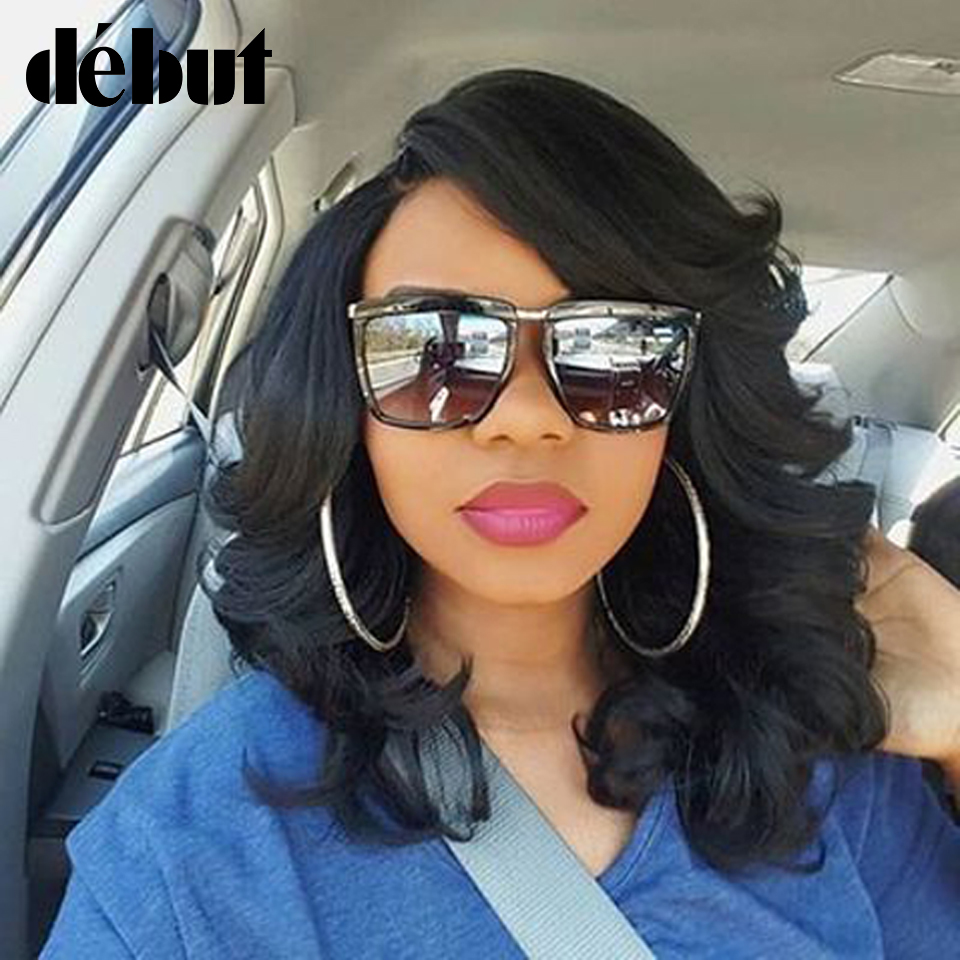 Debut Lace Front Human Hair Wigs For Women Bouncy Curly Colored Human Hair Wigs Brazilian Blonde Short Bob Wigs Free Shipping